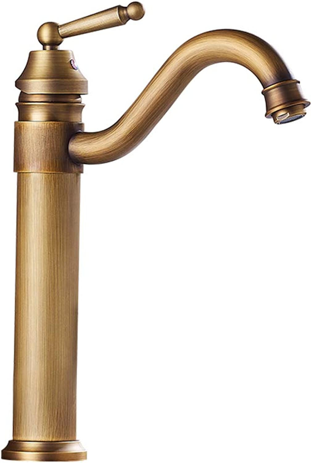 IFELGUD Bath Faucet Copper Faucet Retro Mixer Faucet Counter Basin Hot and Cold Water Taps Bend Outlet Torneira