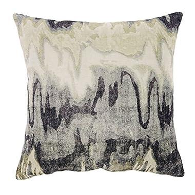 Ashley Furniture Signature Design - Aneko Throw Pillow - Geometric - Cream/Blue