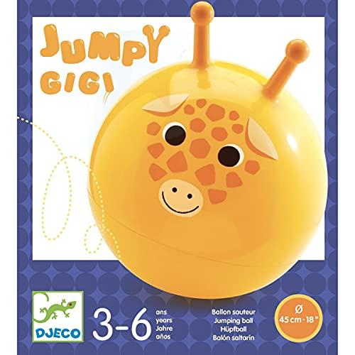 DJECO- Juego Habilidad Pelota saltarina Jumpy Gigi Juguete, Multicolor (30182)