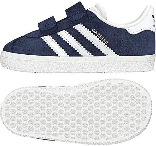 Adidas Gazelle CF I, Zapatillas Unisex bebé, Azul (Collegiate Navy/Footwear White/Footwear White 0), 23 EU