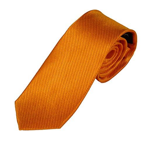 Krawatte orange 100% Seide - Pietro Baldini Seidenkrawatte handgefertigt 150 * 7cm (Orange)