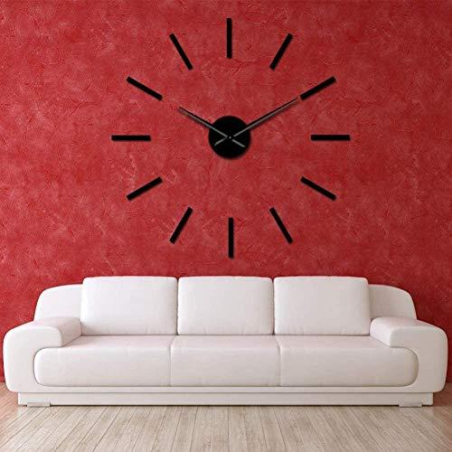 3D DIY wandklok 3D grote acryl spiegel effect muur klok eenvoudig ontwerp muur kunst decoratie kwarts mute schoonmaken moderne grote klok wijzer muur klok woonkamer slaapkamer decoratie 37inch