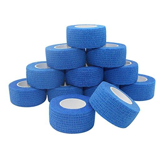 COMOmed selbstklebender verband elastische binde handgelenk bandage pflaster rolle Dog Bandagen Tierische Bandagen Blau 2.5 cm X 4.5 m 12 Bände