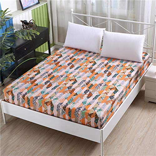 DJNCIA Home 1 funda de colchón elástica ajustable con impresión de alta calidad, 100% poliéster, tamaño personalizable. Calidad del hotel (color: Qingmitange, tamaño: 80 x 200 x 26 cm)