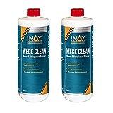 INOX® Wege Clean concentrado limpiador de piedras, 2 x 1L - removedor de cubiertas verdes, de algas para uso exterior
