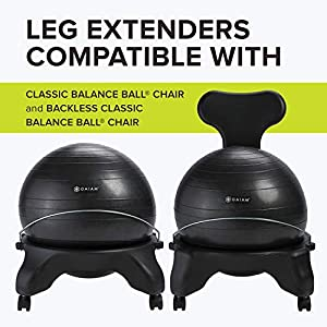 Gaiam Classic Balance Ball Chair Leg Extenders (Only Compatible with Classic Chair & Classic Backless Chair)