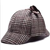 AROVON Sombreros Cosplay Cap Detective Sherlock Holmes Deerstalker Sombrero Gris Copas Nuevo Boinas Gorra Fashional