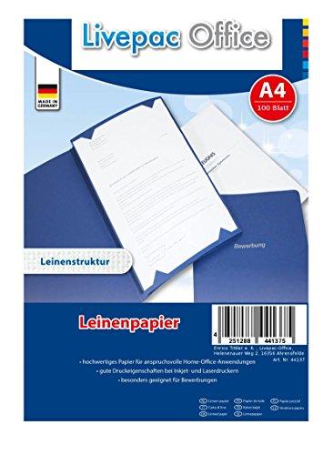 100 Blatt Leinenpapier / 120g/m² / DIN A4 / ideal für Bewerbung