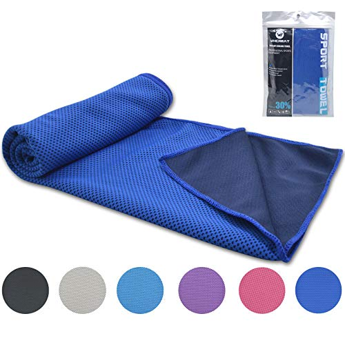 WHCREAT Koel Handdoek voor Instant Relief Ice Cold,100 x 30 cm,Super absorberend Snel Droog Gebruikt als hoofdband Bandana Sjaal Polsband