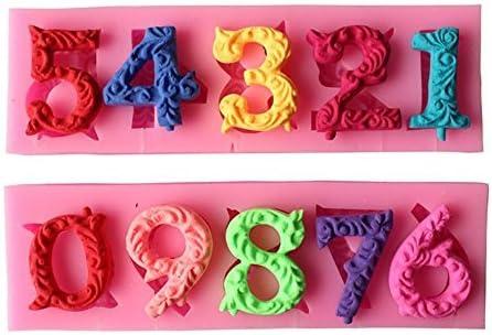 Alphabet Number mart 0-9 3d Birthday New item Silicone Mold Sugarcraf
