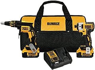 DEWALT 20V MAX XR Drywall Screw Gun & Impact Driver Kit, 4.0-Amp Hour (DCK267M2)