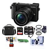 Panasonic Lumix DC-GX9 20.3MP Mirrorless Camera with 12-60mm F3.5-5.6 Lens, Black - Bundle with Camera Bag, 32GB SDHC U3 Card, Cleaning Kit, Card Reader, 58mm Filter Kit, Mac Software Package and More