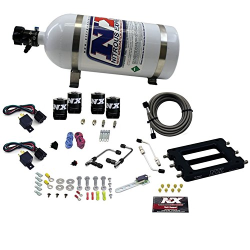 Nitrous Express 66570-10 Dominator 50-300 PS/100-500 PS Dual Stage Shark ProPower Plate System mit 4,5 kg Flasche