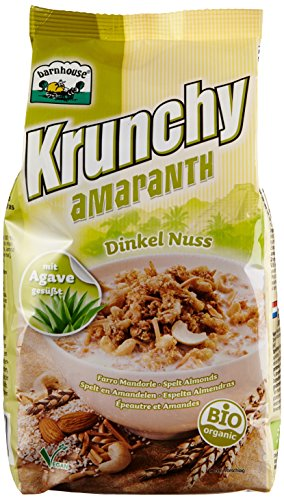 Barnhouse Krunchy Amaranth Dinkel-Nuss, 3er Pack (3 x 375 g) - Bio