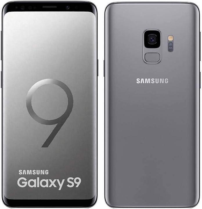 Smartphone ricondizionato samsung galaxy s9 64gb 5.8 pollici 12mp senza sim in titanio grigio SAM/G960F/64BLK/A#CR$P