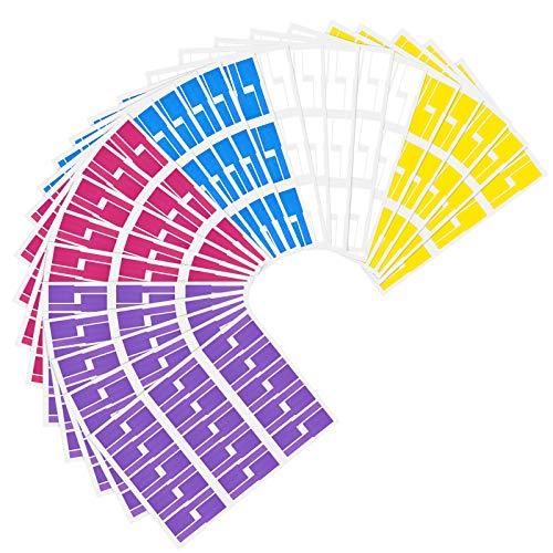 Wandefol 900er Selbstklebend Kabeletiketten Kabelettikett 5 Farben 30 Blatt 900 Labels Wasserdicht Reißfest Haltbar Kabel Aufkleber