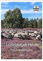 Lueneburger Heide - Faszinierend schoen (Wandkalender 2022 DIN A2 hoch): Der Naturpark laedt mit seinen schoenen Heideflaechen zum Wandern, Radfahren und Verweilen ein (Familienplaner, 14 Seiten )