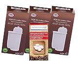 Human-Wellness Lot de 3 filtres pour aspirateur Siemens BRITA Intenza TZ 70003 EQ.3 EQ.5 EQ.6 EQ.8 EQ.9 TK7 compatibles AKQ-01 + 10 tablettes de Nettoyage