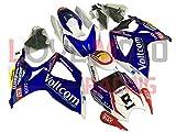 LoveMoto Carenados para GSX-R600 GSX-R750 K6 2006 2007 06 07 GSXR 600 750 Kit de carenado de Material plástico ABS Moldeado por inyección para Moto Azul Blanco