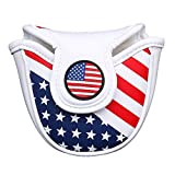 Stars& Stripes Golf Mallet Putter Head Cover Protector Magnetic...