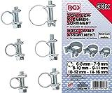 BGS 9476 | Schlauchklemmen-Sortiment | 30-tlg. | Ø 6 - 16 mm | geeigent für Öl-, Druckluft- und Benzinschläuche | Schlauchschellen | Rohrschlauchbefestigungen