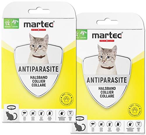 martec PET CARE 2X Katzenhalsband gegen Zecken Flöhe und Milben Schutz vor Parasiten