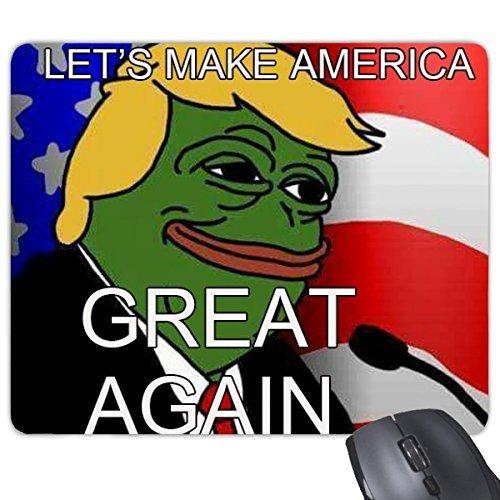Amerika American Schade Frosch Präsident Trump Funny Let 's Make Amerika wieder lächerlich Spoof Meme Bild Rechteck rutschfeste Gummi Mauspad Spiel Maus Pad