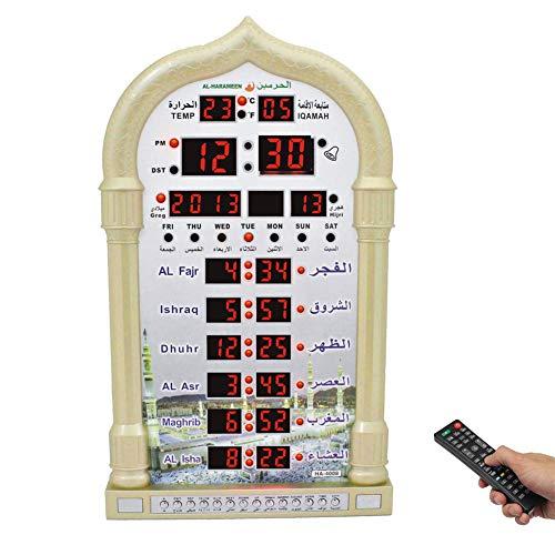 Muslimische Azan-Uhr, LED Islamische Gebetsuhr, Heim/Büro/Moschee Digitale dekorative Wanduhr/Desktop-Uhr