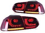 Luz trasera trasera para Golf 6 Golf mk6 Golf vi GTI GTD TSI TDI R 2011 2012 2013 Conjunto de lámpara trasera trasera Señal de giro Indicador secuencial dinámico 2 piezas