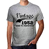 Photo de Tee Shirt Homme Vintage T Shirt Vintage Aged to Perfection 1952 Cadeau d'anniversaire 69 Ans L Gris