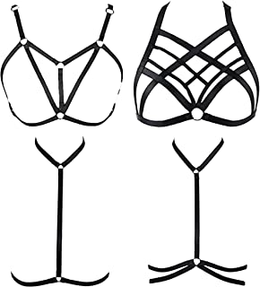 4 Pcs Womens Strappy Cage Bra Harness for Women