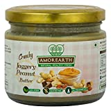 Two Brothers Organic Farms Peanut Butter, Crunchy Jaggery, Stoneground 300 GMS