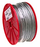 Galvanized Steel Wire Rope, 7x19 Strand Core, 3/16