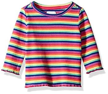 Gymboree Baby Girls Long Sleeve Casual Knit Top Rainbow Rib 0-3 Mo