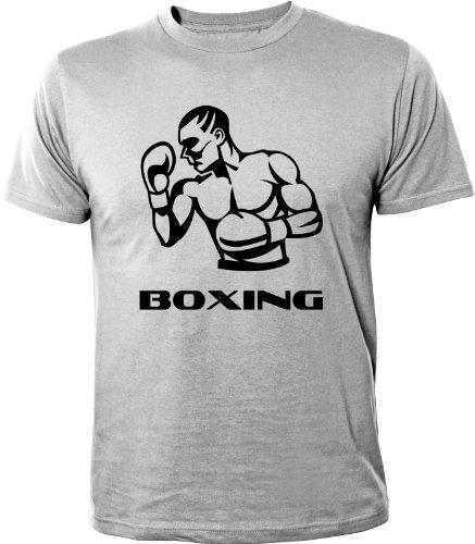 Mister Merchandise Cooles Herren T-Shirt Boxing Boxer, Größe: XXL, Farbe: Grau