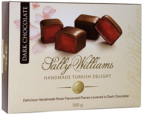 Sally Williams Dark Chocolate Enrobed Rose Turkish Delight 300 g (Pack of 2)