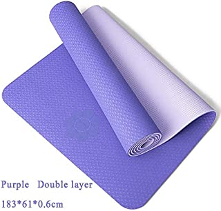 Extra Thick Yoga Mat Extra Thick Non-Slip Foam Yoga Mats Free Bags for Fitness Tasteless Pilates Gym Exercise Pads with Yoga Strap 183cmX61cm Deep Blue