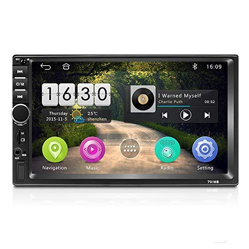 Podofo Android 2 Din Autoradio Navigazione GPS 7 pollici Touch Screen in Dash Lettore video per auto con Bluetooth GPS WiFi Dulica Schermo Radio FM + Fotocamera posteriore (2G+16G)