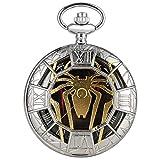 Reloj de Bolsillo de Cuarzo Hollow Spider, Medio Cazador Collar Colgante Reloj...