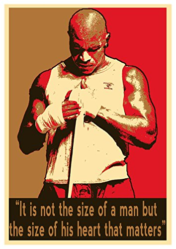 General ART Poster Boxers Propaganda Quotes Evander Holyfield - Formato A3 (42x30 cm)