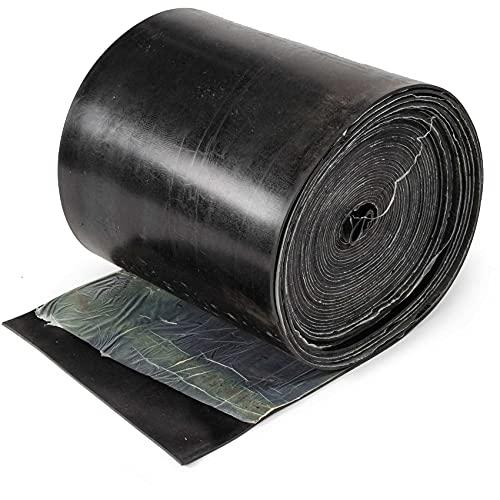 ANRO Tira de goma de 5 mm de grosor, color negro, 30 cm x 5 m