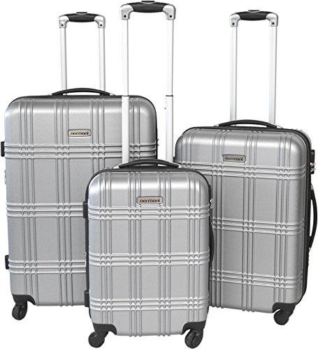 normani ABS Hartschalen Koffer Set Ausführungen Farbe Silver