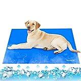 HueLiv Alfombrilla de Refrigeración Animales Alfombrilla refrescante para Mascotas Grandes , Nevera y Manta para Perro Fresco Cojín Azul Nevera Techo Perfecta para Camas de Suelo