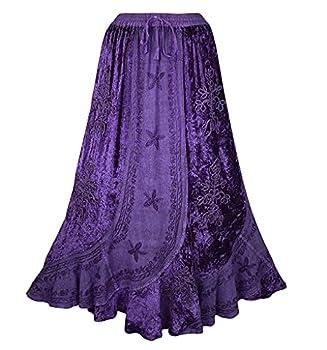 552 Sk Dancing Gypsy Medieval Renaissance Vintage Skirt  2X/3X Purple