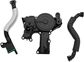 PCV Crankcase Vent Valve Breather Hose Kit - Fits 2.0L Turbo Audi A3 8P, A5 B8, Q5, TT, Volkswagen Golf GTI MK5, MK6, Jetta, Passat B6, Tiguan and more - Replaces 06H103495AH, 06H103495AC, 06H103495E