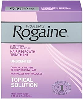 Only FDA-approved topical solution to regrow your hair. - Rogaine for Women Hair Regrowth Treatment, 2 Ounce (Pack of 3)