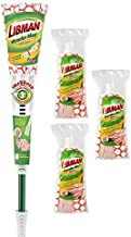 Libman Wonder Mop & Refills Kit – for Tough Messes and Powerful Cleanup – Easy to Ring, Long Handled Wet Mop for Hardwood, Tile, Laminate. Includes Three Replacement Heads, Machine Washable