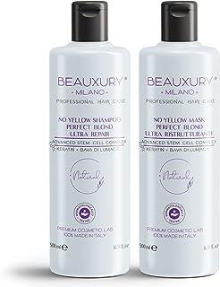 Novità con Staminali Vegetali Shampoo & Maschera 500ML Antigiallo No Yellow Perfect Blond per Capelli Biondi, Platino, Gri...