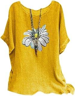 MogogNWomen T Shirts Short Sleeve Floral Print Casual Blouse Top