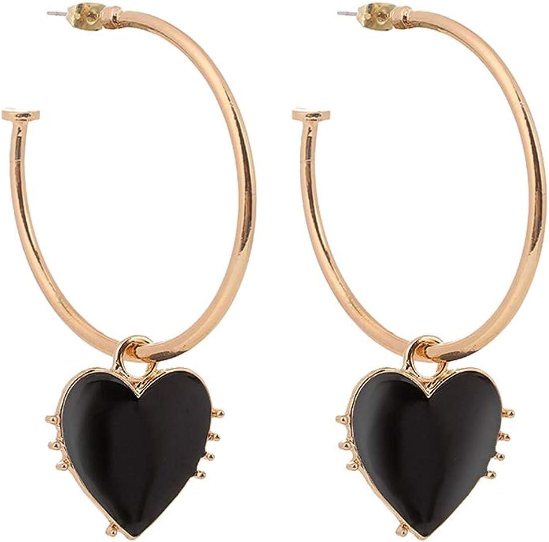 Women's Girl's Fashion Jewelry Earring 1 Pair Big Circle Dangle Earrings Fashion For Women Gift Drop Earrings